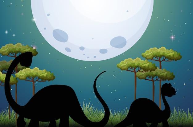 Динозавр в природе