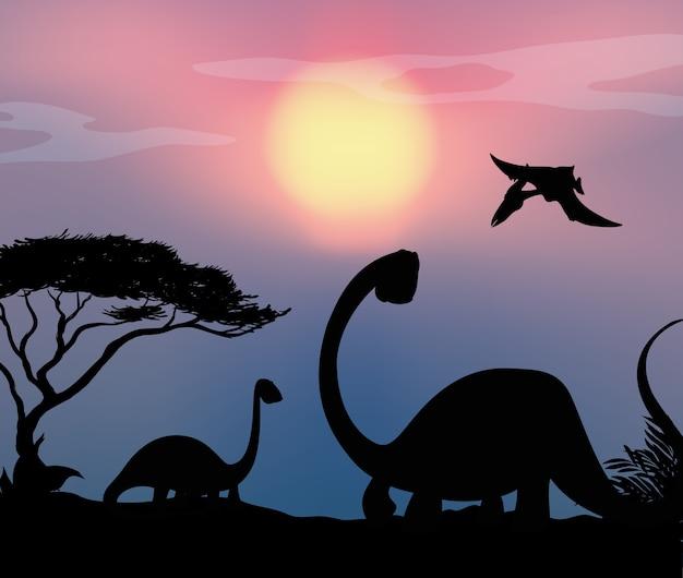 自然界の恐竜