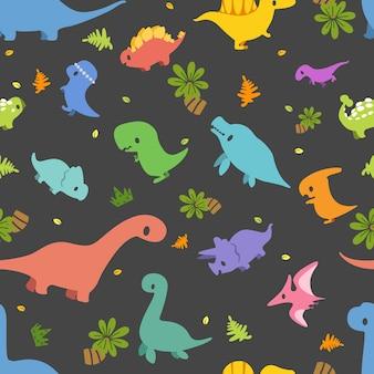 Dinosaur seamless pattern.