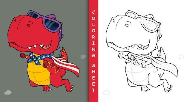 Dinosaur superhero cartoon