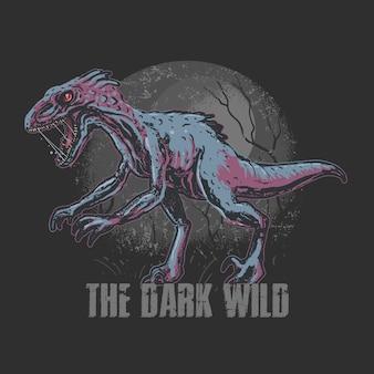 Dinosaur trex raptorアートワーク