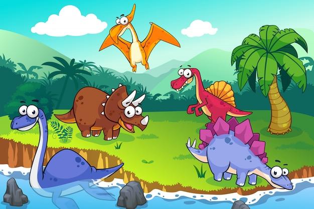 Dinosaur in a wild