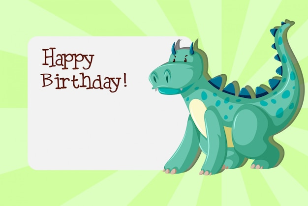 A dinosaurs on birthday template