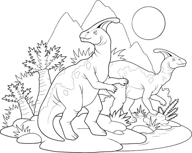 Раскраска динозавров