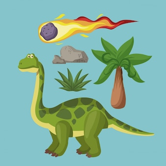 Dinosaurs extinction cartoons