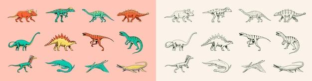 공룡 세트 티라노사우루스 렉스 트리케라톱스 바로사우루스 디플로도쿠스 벨로시랩터 트리케라톱스