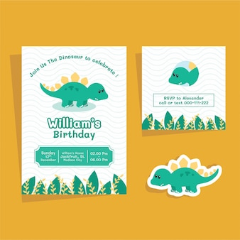 Dinosaurus birthday invitation