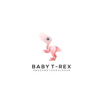 Динозавр логотип шаблон дизайна иллюстрация