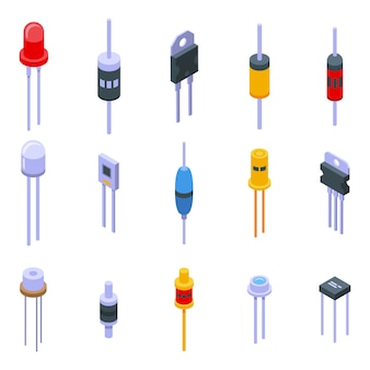 Diode icons set