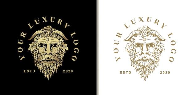 와인과 파티의 신 디오니소스 바커스. 고대 그리스 신화의 영웅
