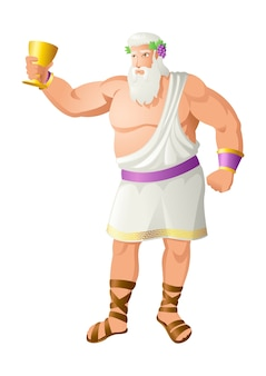 Dionysus the god of the grape harvest