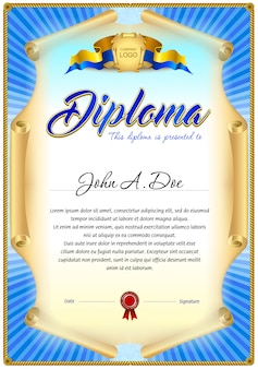 Diploma blank template