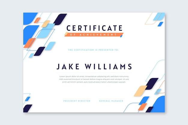 Diploma template concept
