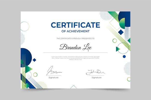 Diploma template concept
