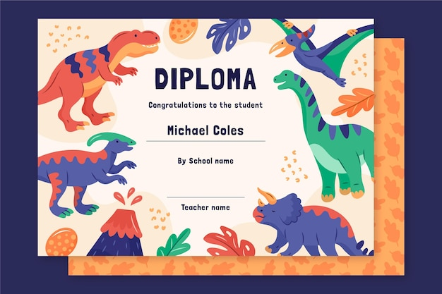 Шаблон диплома для детей концепции