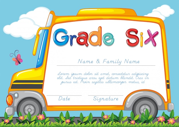 Шаблон диплома для учеников шестого класса