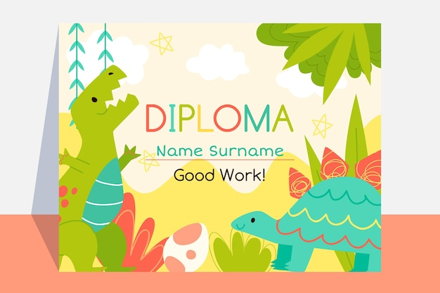 Diploma template for graduation style
