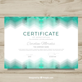 Diploma template with abstract design