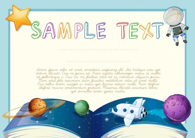 天文学の本の背景と卒業証書 Premiumベクター
