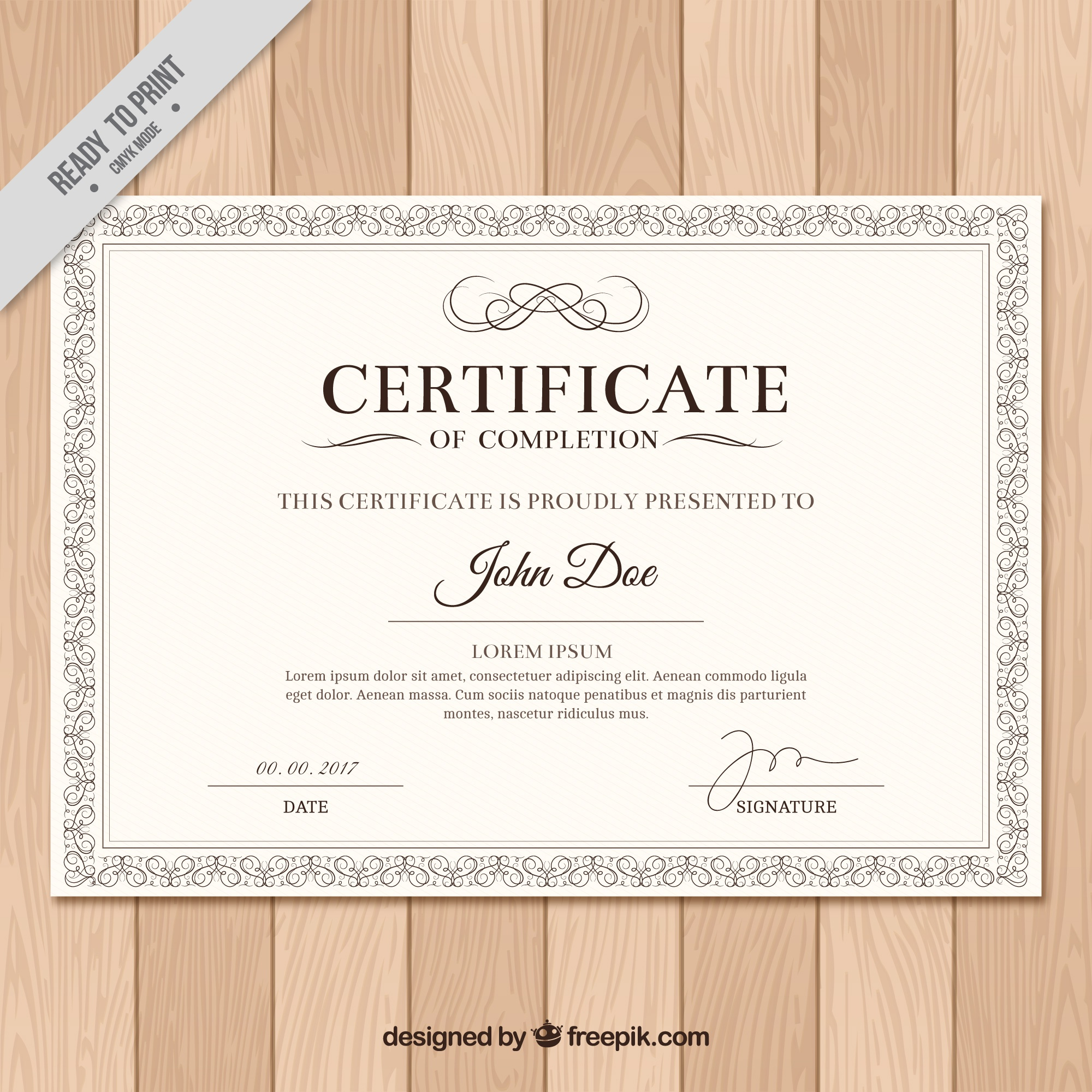 Diploma with classic frame