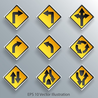 Direction traffic sign