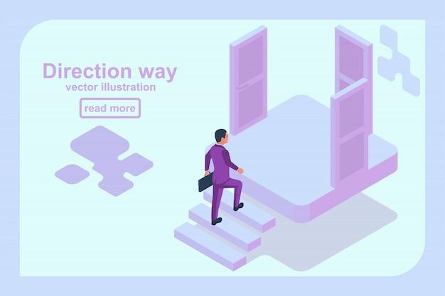 Направление пути концепции. выбор бизнесмена.