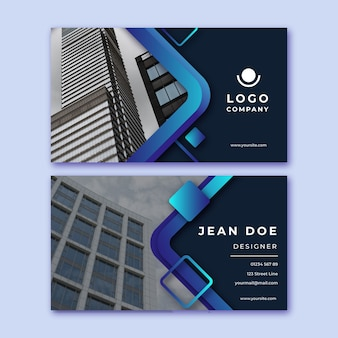 Director business card with photo