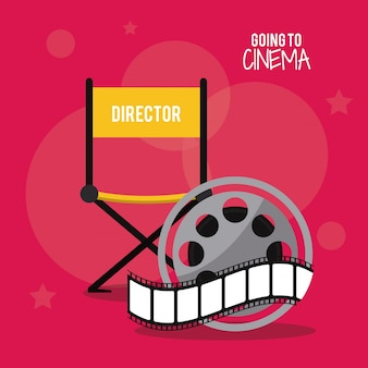 Director chair movie film cinema icon