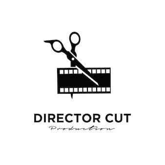 Director cut behind the scene editing studio movie film production logo design