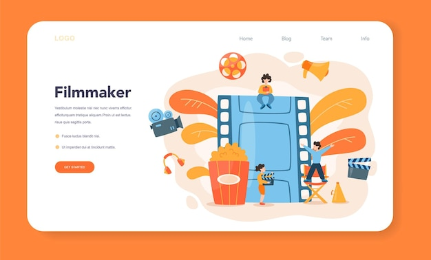 Director web banner or landing page