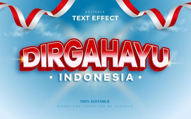 Dirgahayu indonesia text effect style dirgahayu означает день независимости индонезии