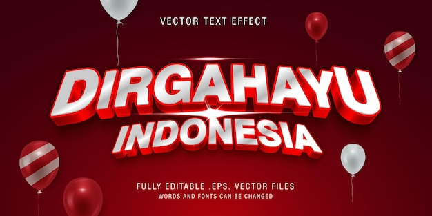 Dirgahayu indonesia text style effect