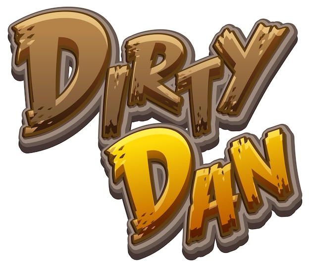 ダーティダンのロゴのテキストデザイン