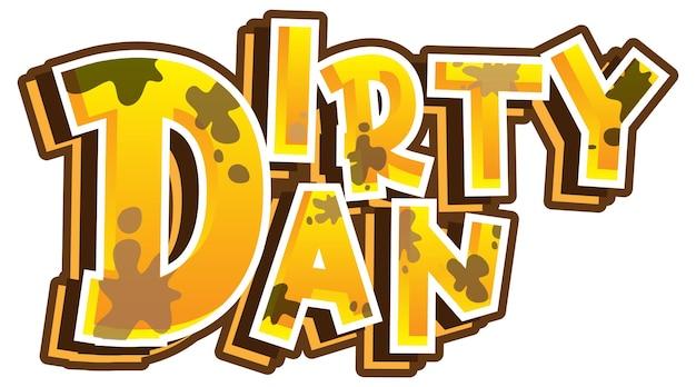 Dirty dan logo text design