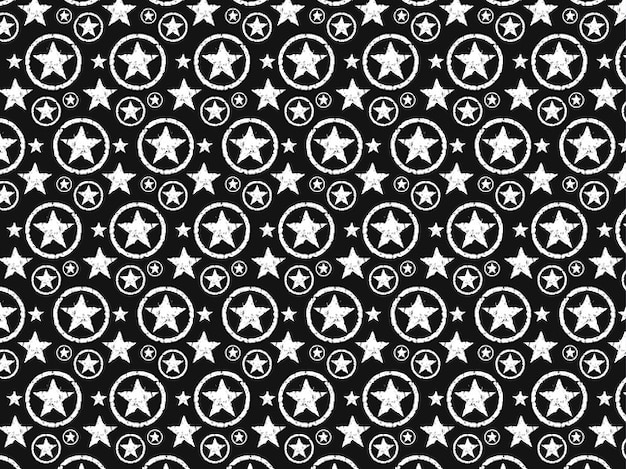 Dirty grunge texture on stars pattern