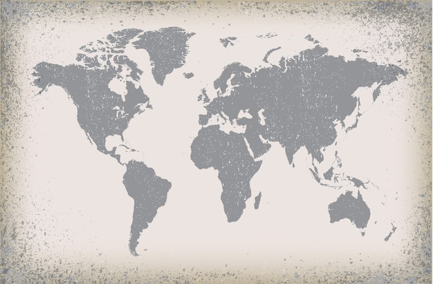 Dirty map of the world