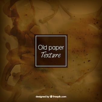 塗料の汚れで汚れた古い紙
