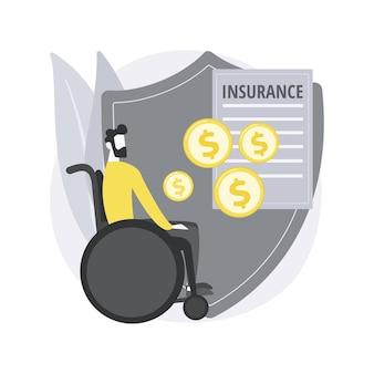 Concetto astratto di assicurazione invalidità