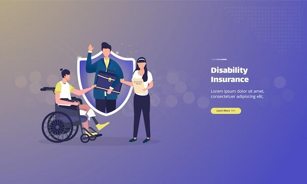 Концепция иллюстрации страхования инвалидности