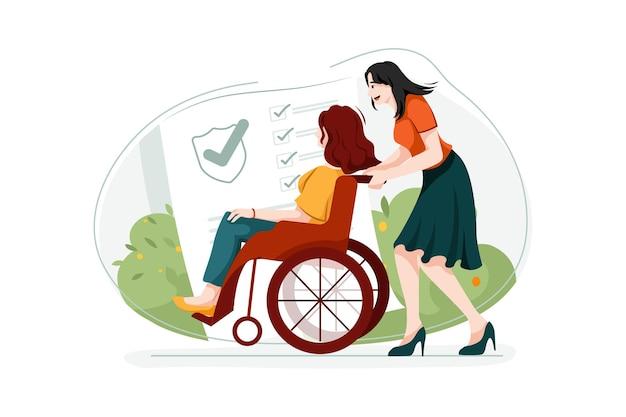 장애 보험 일러스트레이션