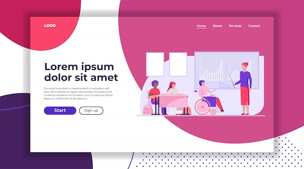 Disable student in class landing page template
