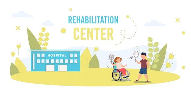 Disabled child in rehabilitation center