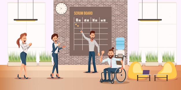 Disabled man successful business career banner