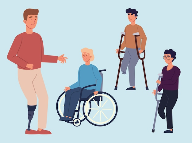 Disabled people characters