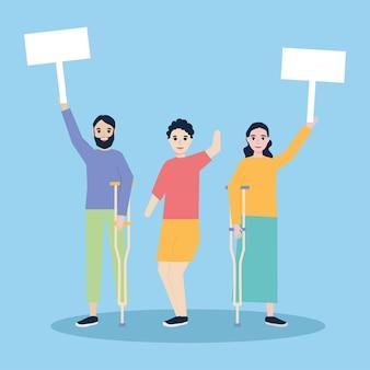 Люди с ограниченными возможностями протестуют