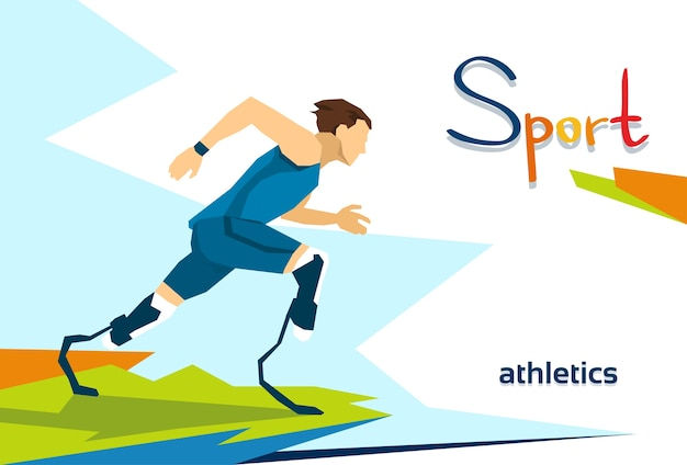 Disabled runner sport competition