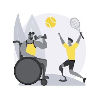 장애인 된 스포츠 추상적 인 개념