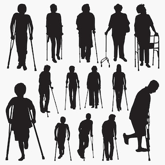 Disablement person silhouettes