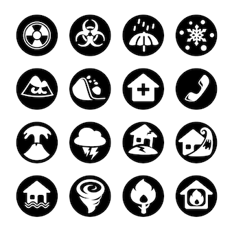 Disaster icons.