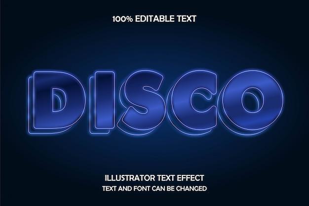 Disco,3d editable text effect modern neon style